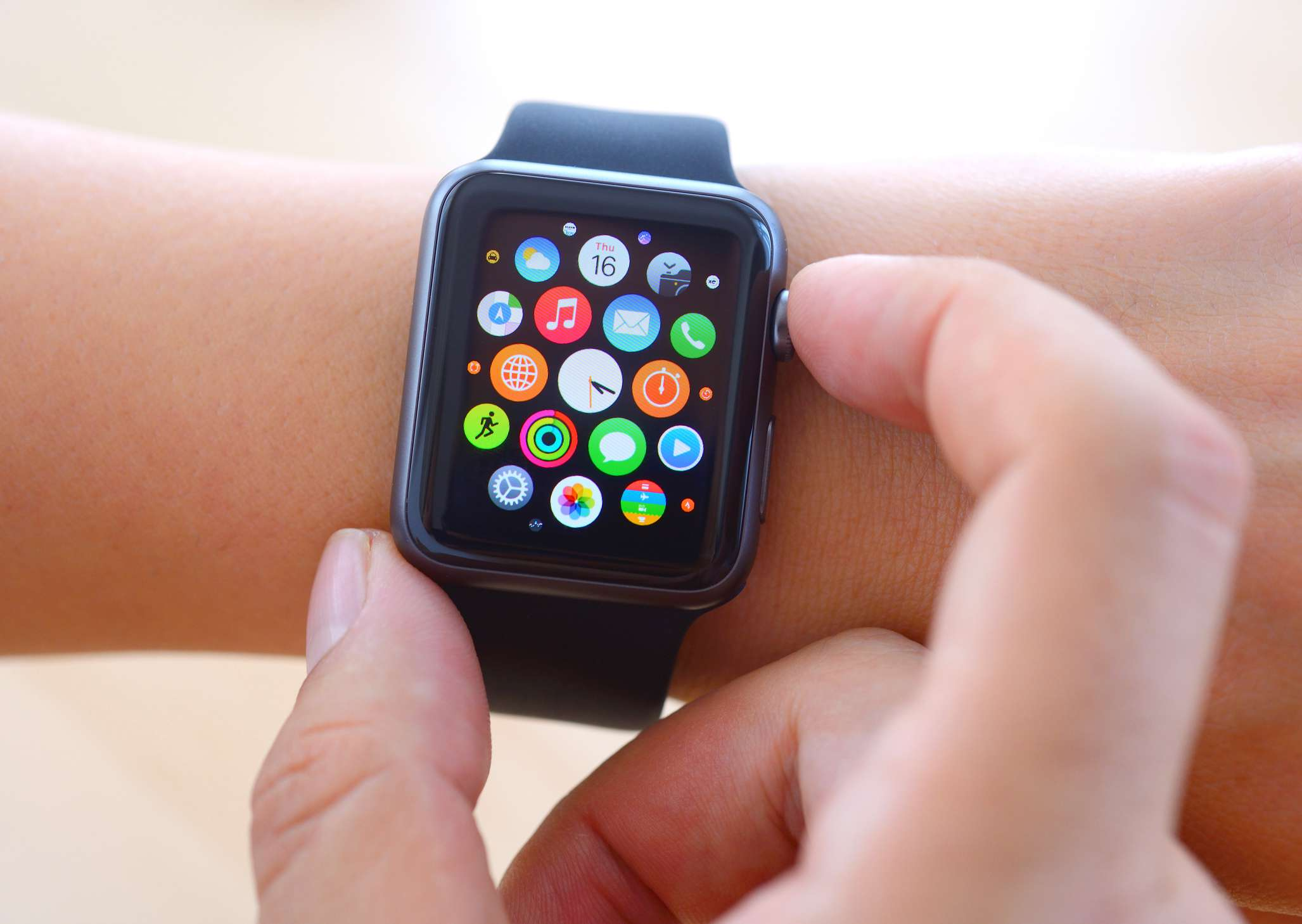 Using Black Apple Watch Sport and checking to see what the Apple Care warranty status is