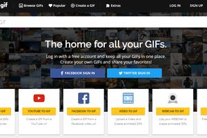 Screenshot of the Make A GIF website