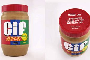 Gif peanut butter jars from Amazon listing