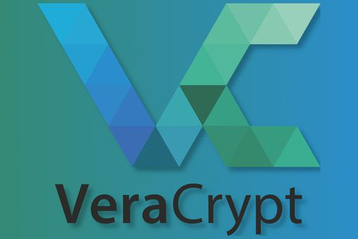 VeraCrypt logo on a blue and green background