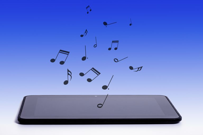 Music from a digital tablet