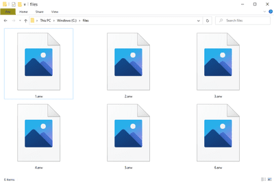 ARW files in Windows 10 that open with Photos