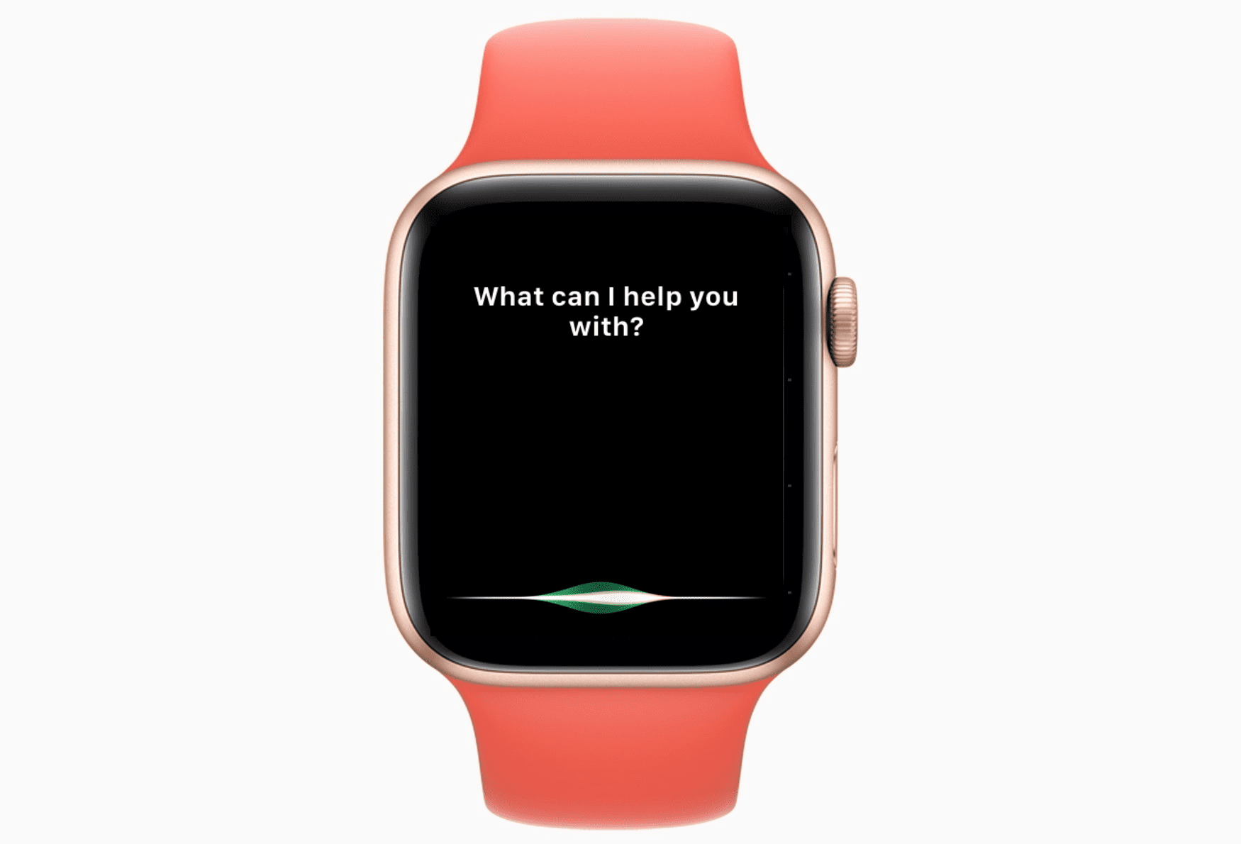 A photo of an Apple Watch with Siri