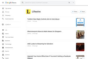 Google News follow button