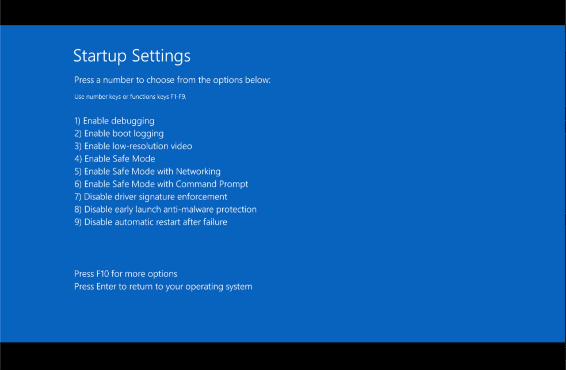 blue screen shutdown windows 10