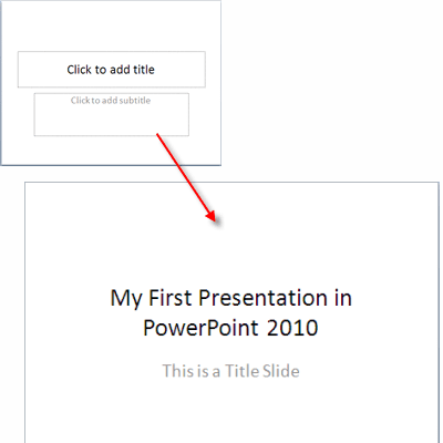 how to use powerpoint 2010 slide layouts