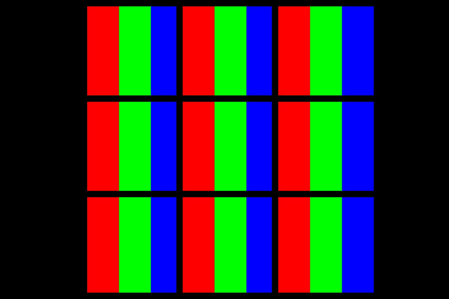 Illustration of What LCD TV Pixels Look Like