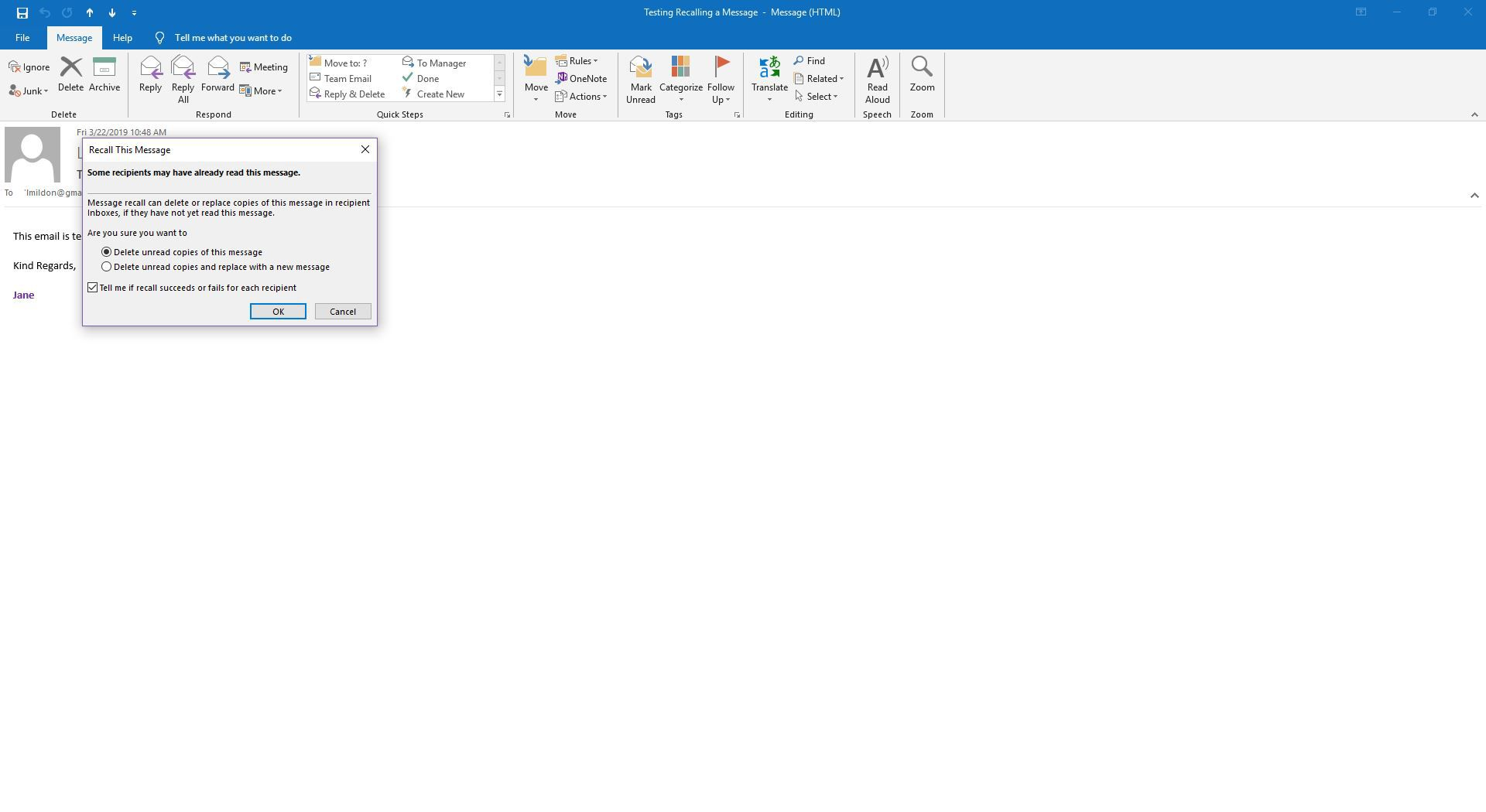 How To Retrieve Email In Outlook >> How To Recall A Message In Outlook