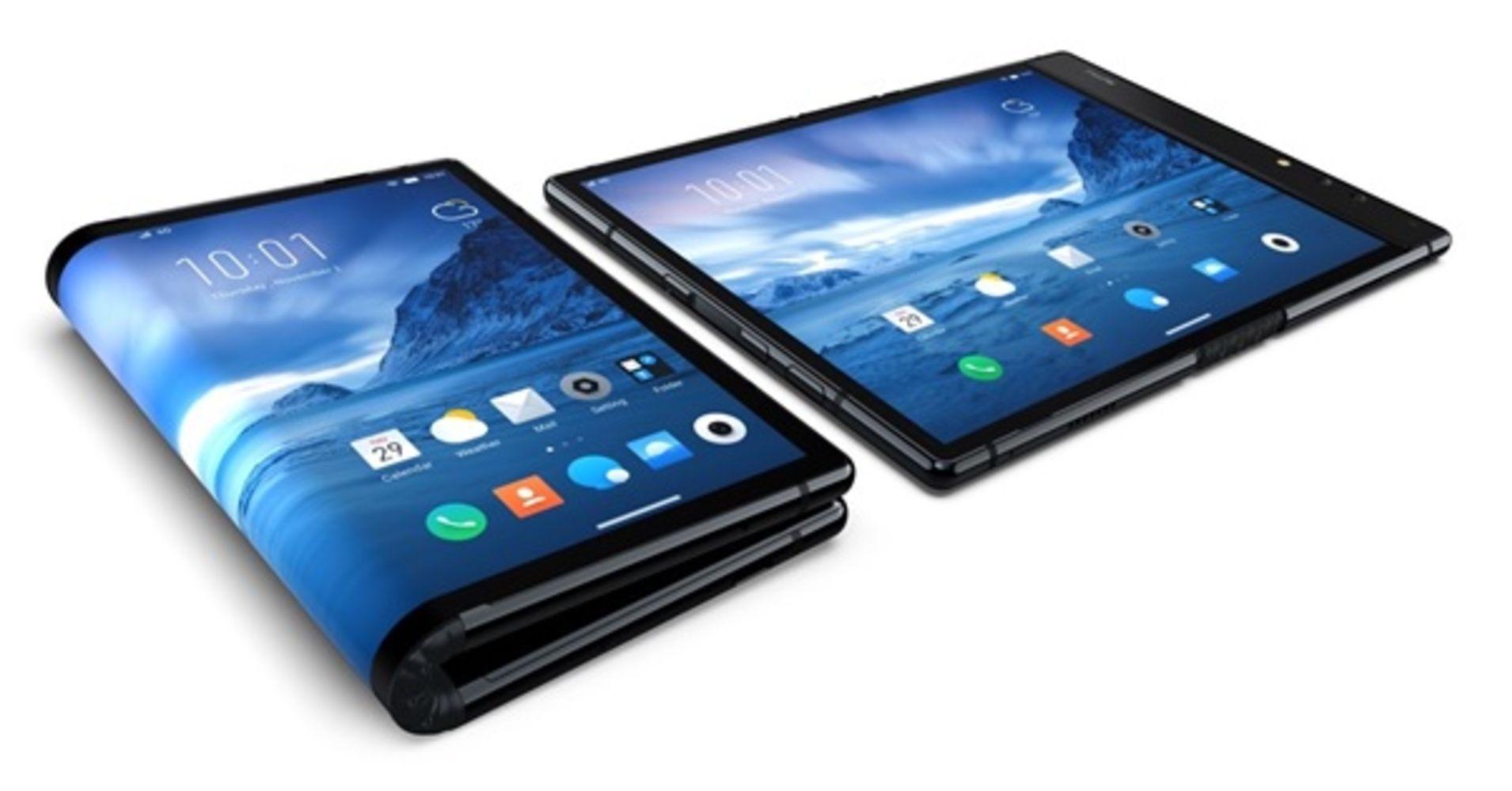 The Royole FlexPai foldable smartphone.