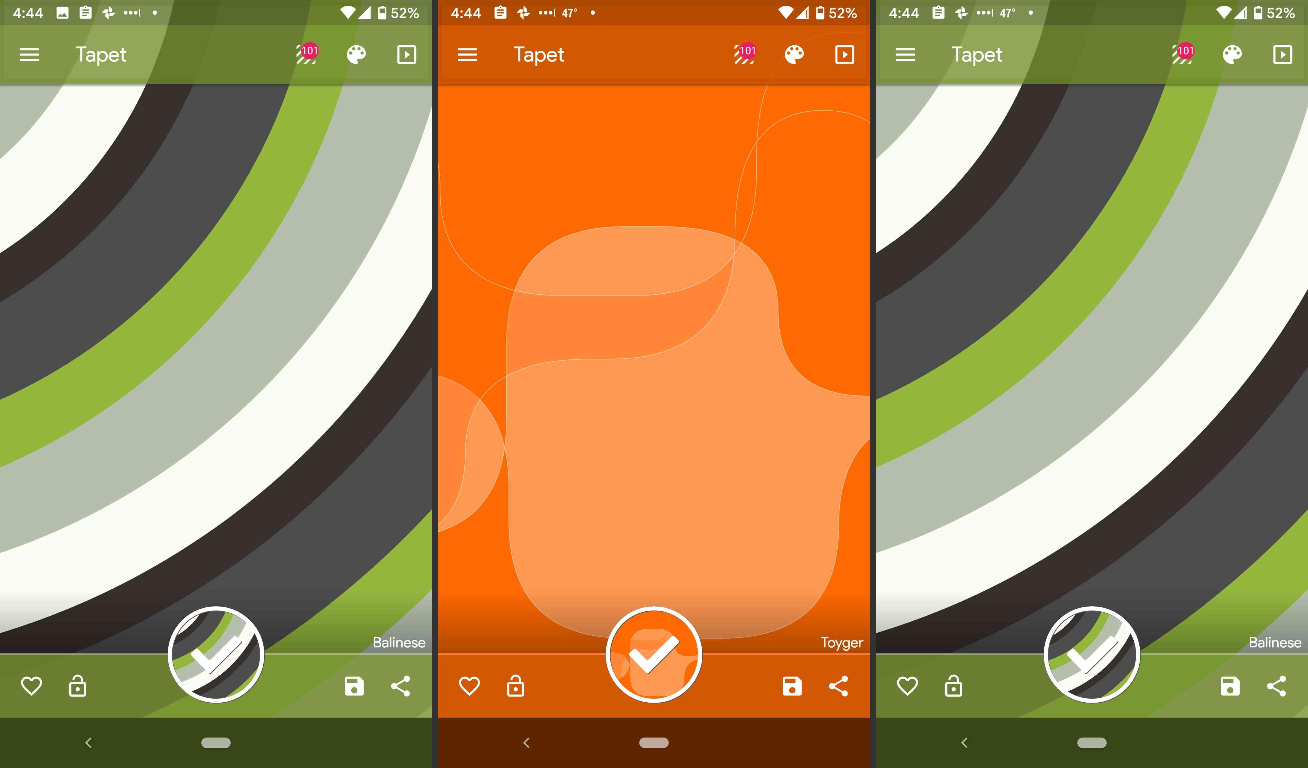 Tapet wallpaper app.