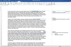 Comments and Review ribbon bar in Word 2016 on macOS