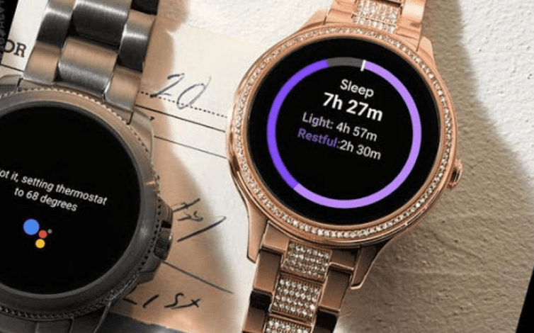 Fossil Gen 5E tracking your sleep
