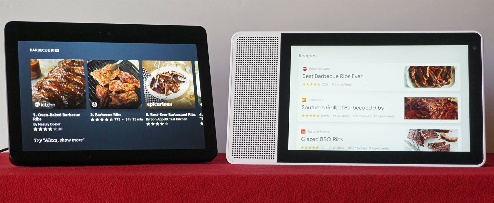 Amazon Echo Show and Lenovo Smart Display — Recipes