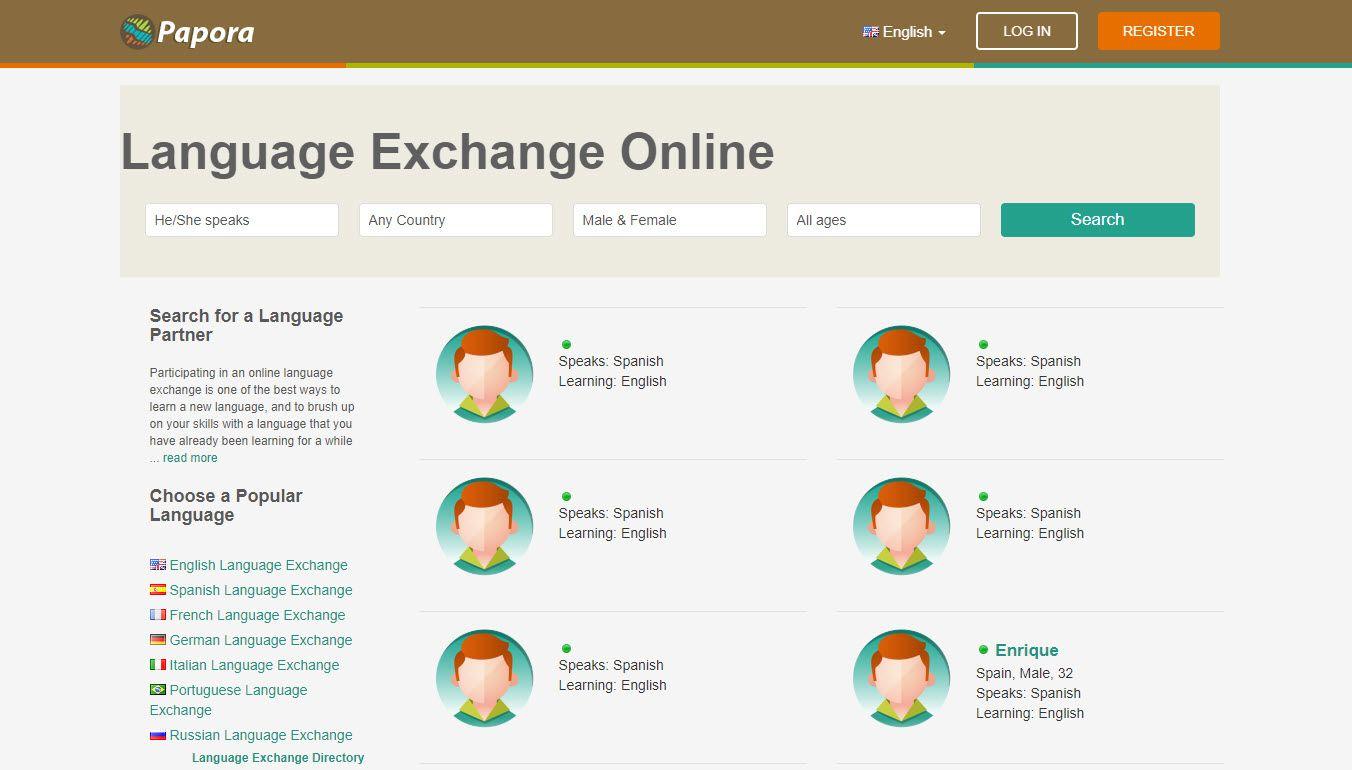 Screenshot of the Papora website.