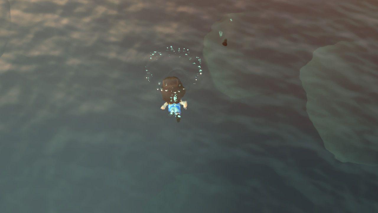 Diving in Animal Crossing.
