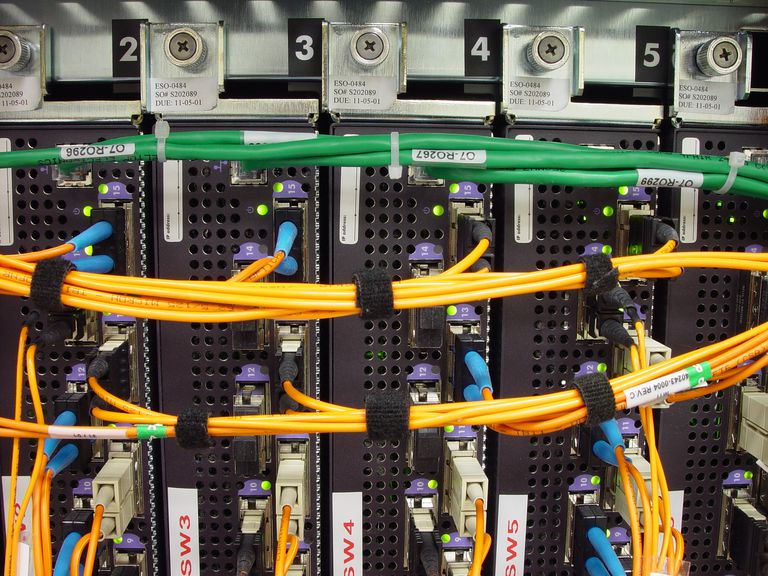 Close up of Fibre Channel Switches
