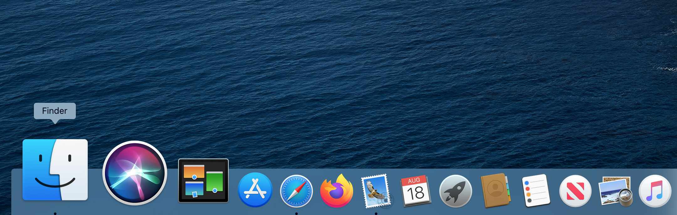 Finder icon in Mac Dock