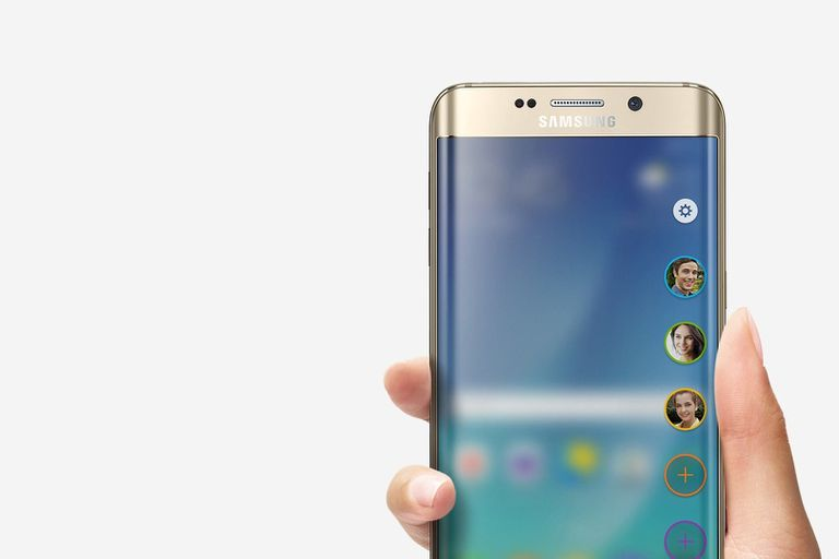 Samsung Galaxy S6 edge plus showing People Edge