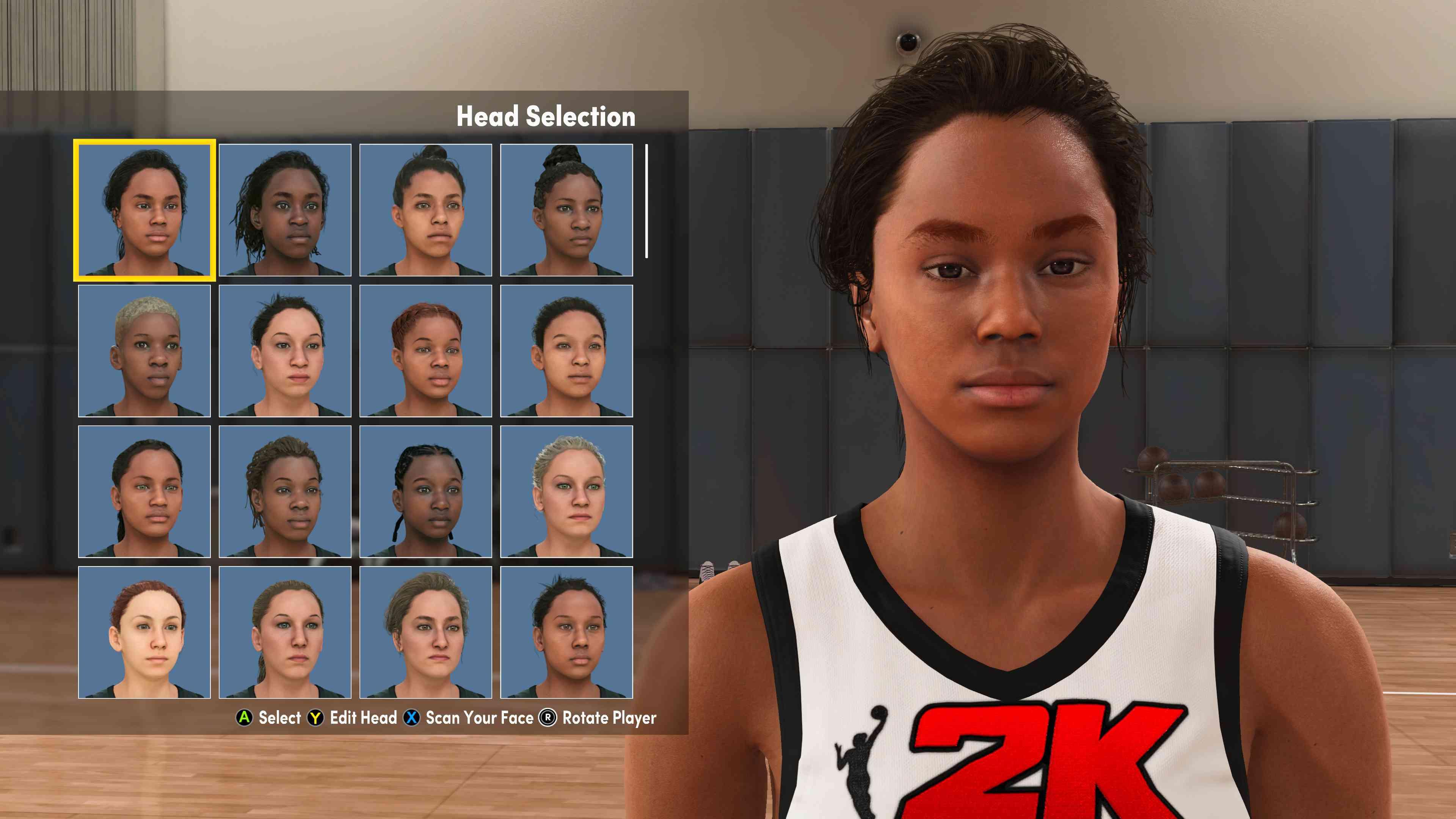 WNBA character creator in NBA 2K22