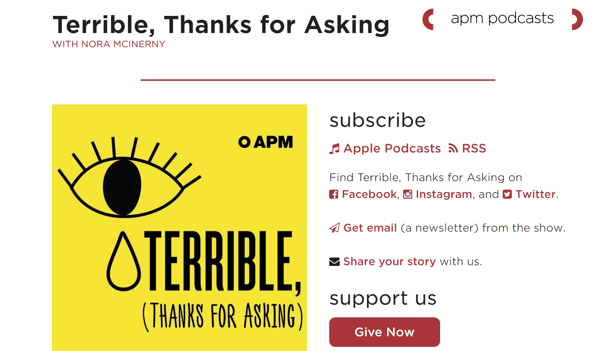 Terrible, Thanks for Asking