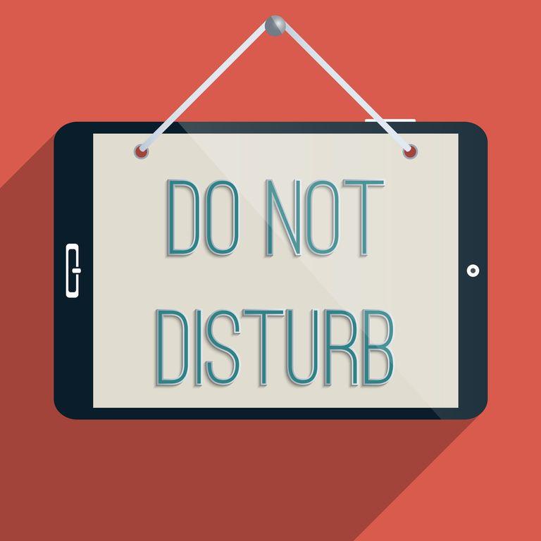 Do Not Disturb sign.