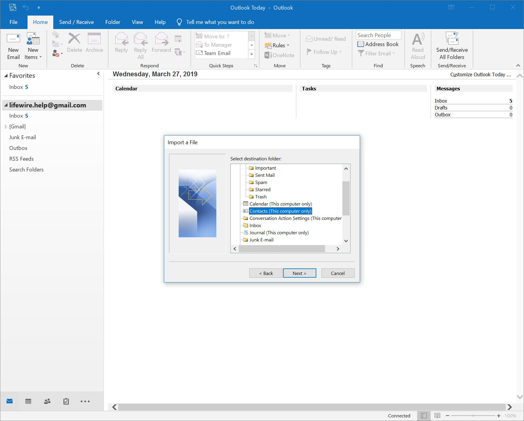 Import Contacts From Excel or a CSV File Into Outlook