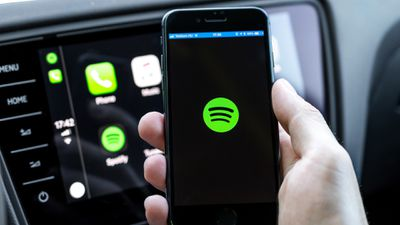 The Spotify app running on an iPhone