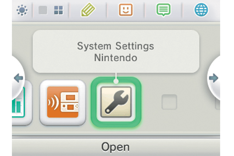 Screenshot of the Nintendo 3DS system settings option
