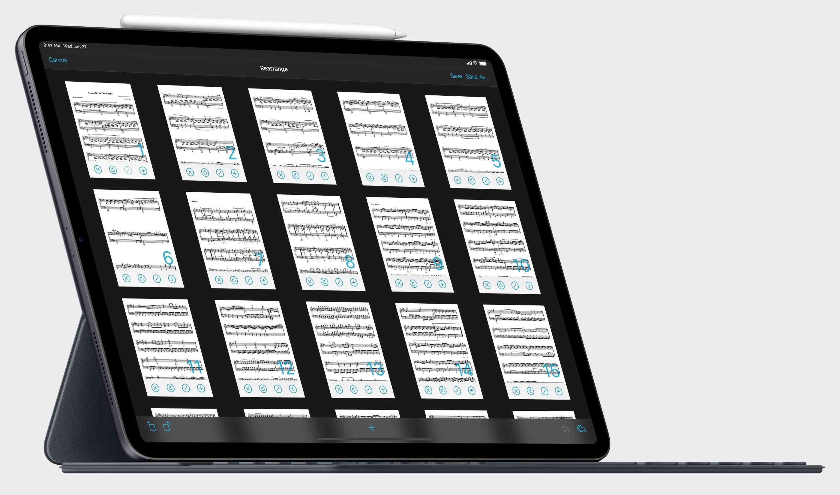 The forScore app on an iPad