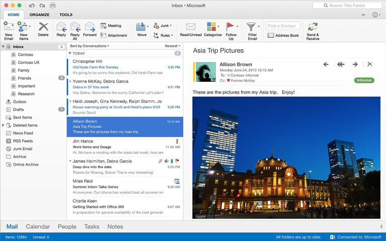 Outlook for Mac Screenshot