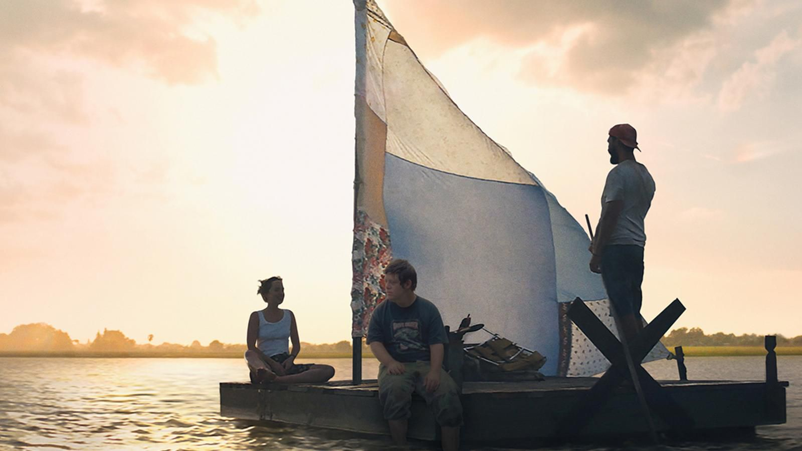 Raft scene from The Peanut Butter Falcon