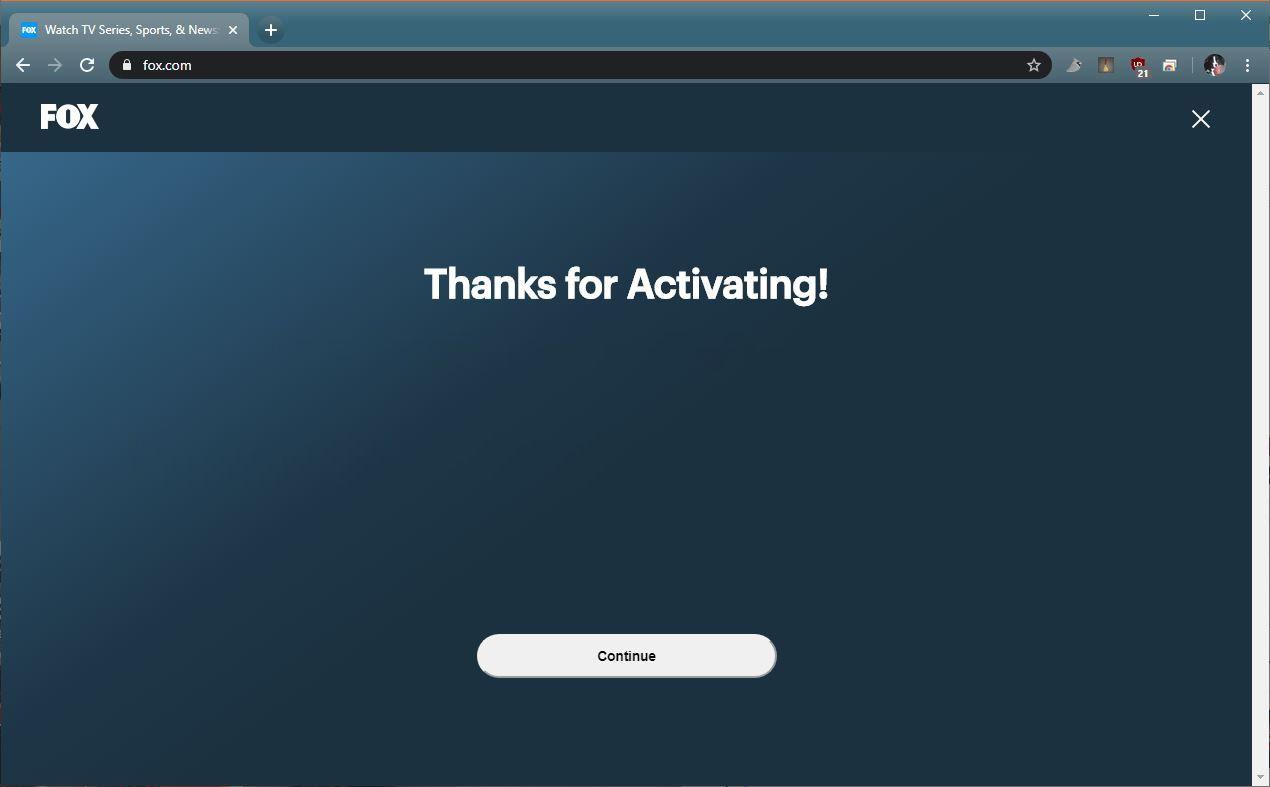 A screenshot of Fox.com