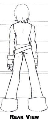 Rear view sketch of Vin