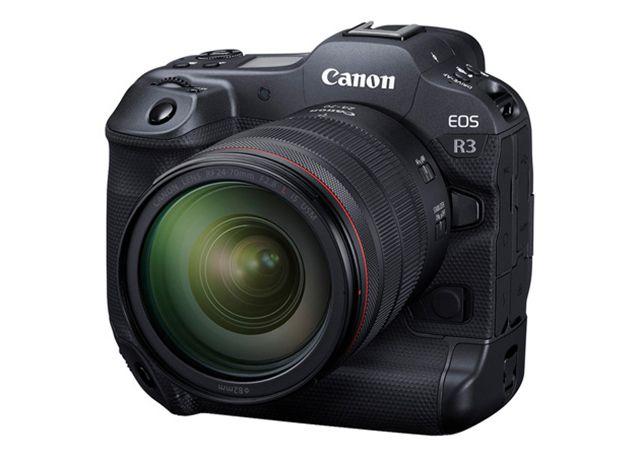 The Canon EOS R3 DSLR camera.
