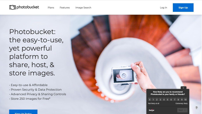 Photobucket photo and video sharing site.