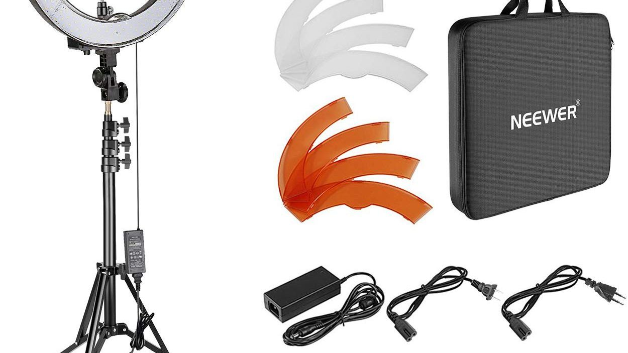 Includes Necessary Adapters//Rings for Mounting Sony PXW-X70 Dual Macro LED Ring Light