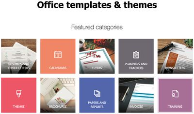 ms office templates for word
