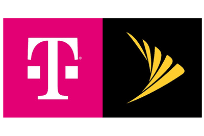 Side-by-side of the T-Mobile and Sprint logos