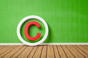 Copyright symbol representing property release