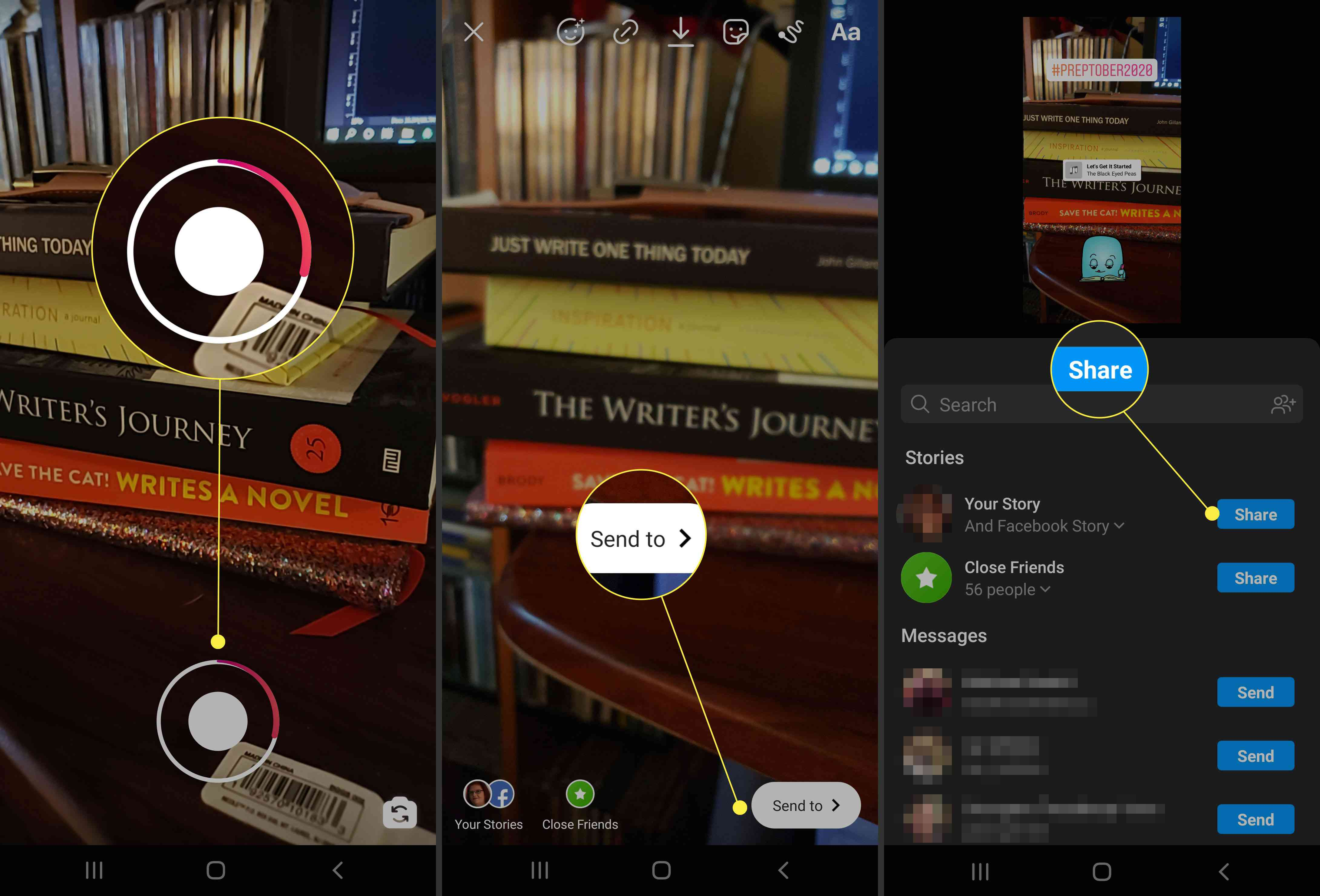 Adding music the old way in Instagram.