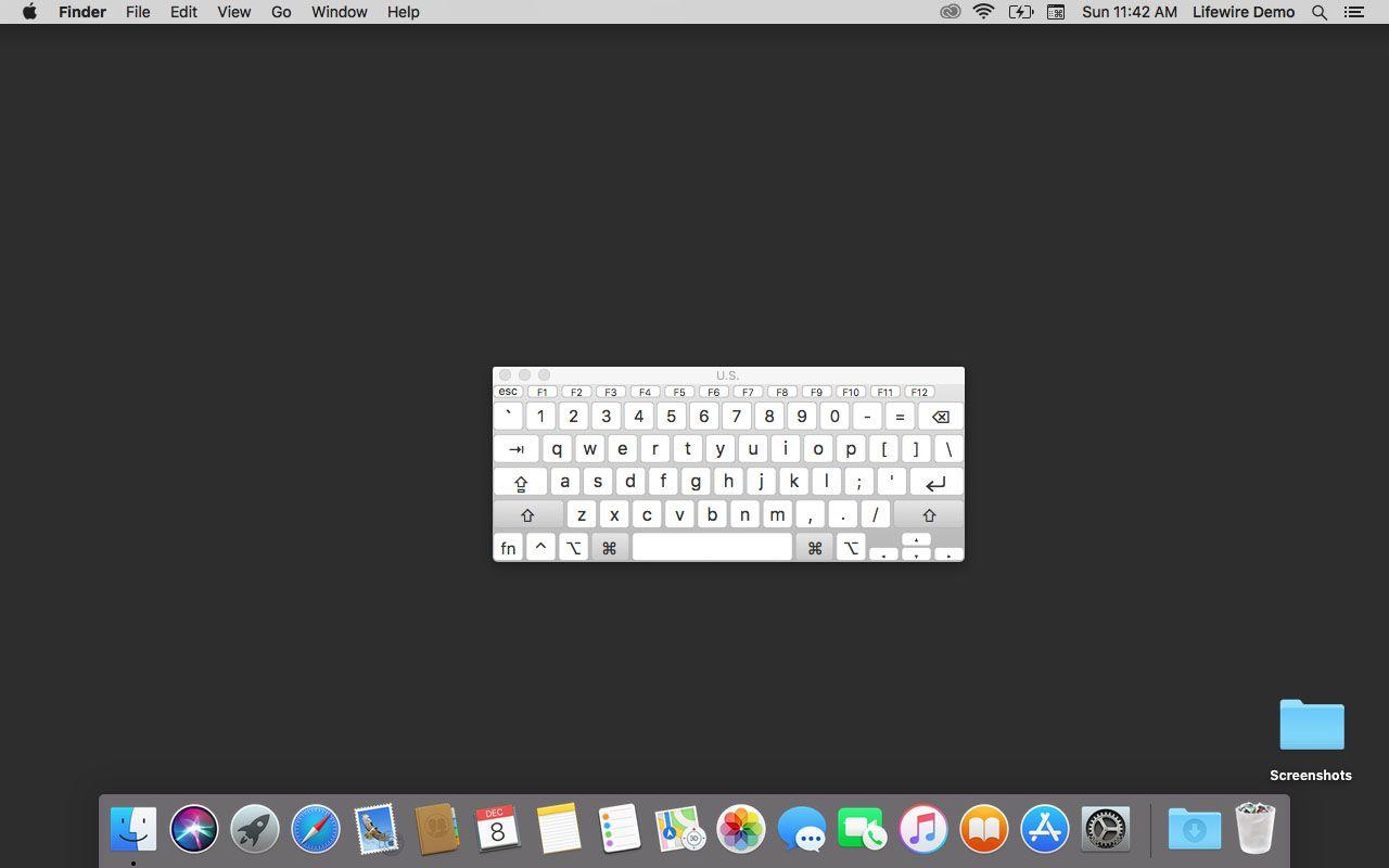 Enabled Virtual Keyboard in MacOS