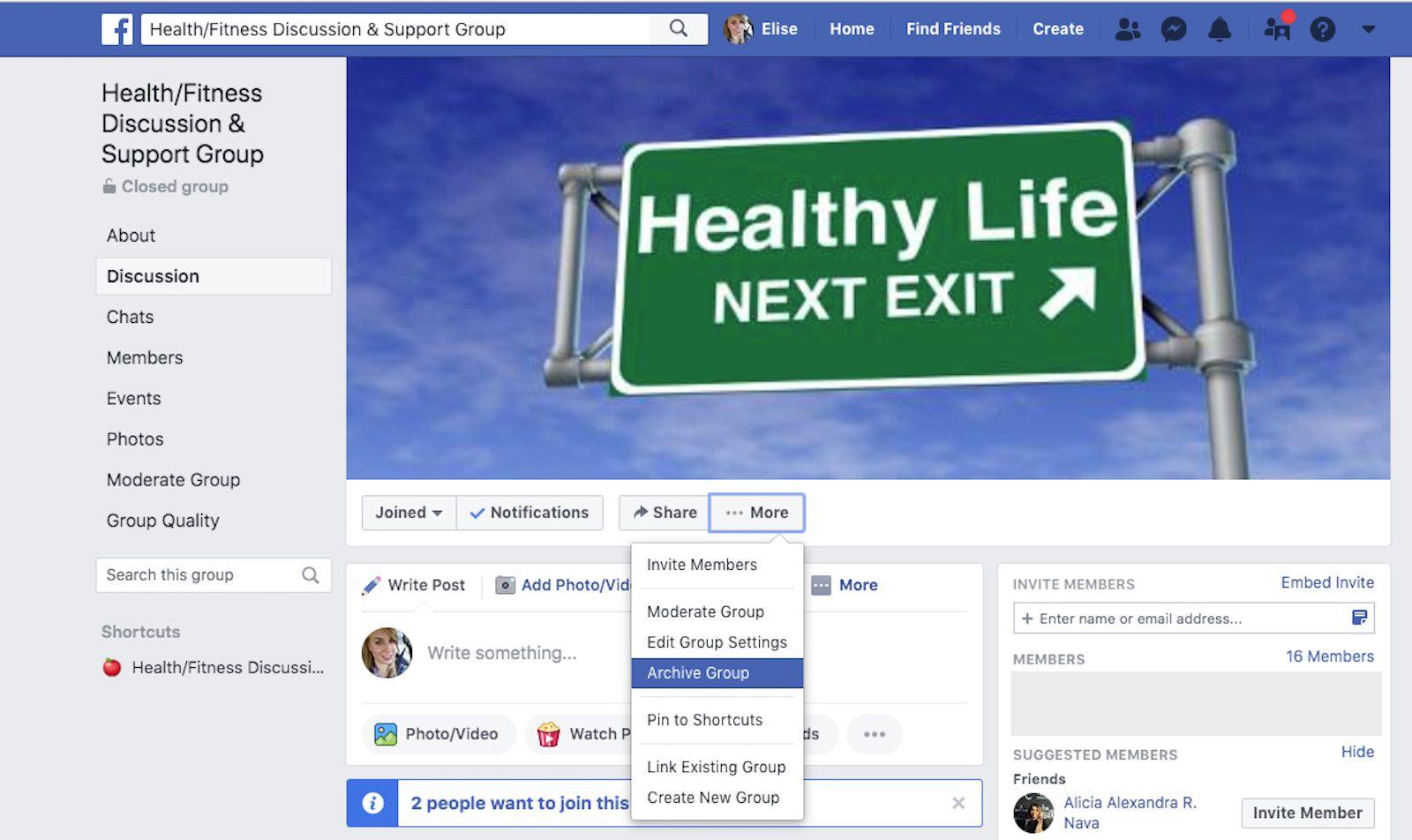 لقطة شاشة لموقع Facebook.com.