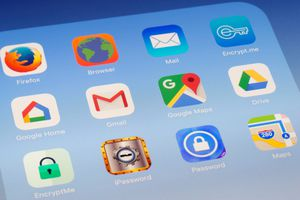 Google Home, Gmail, Google Maps and other Apps on iPad screen