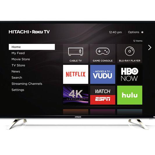 Hitachi 4K Ultra HD TVs with Built-in Roku Streaming