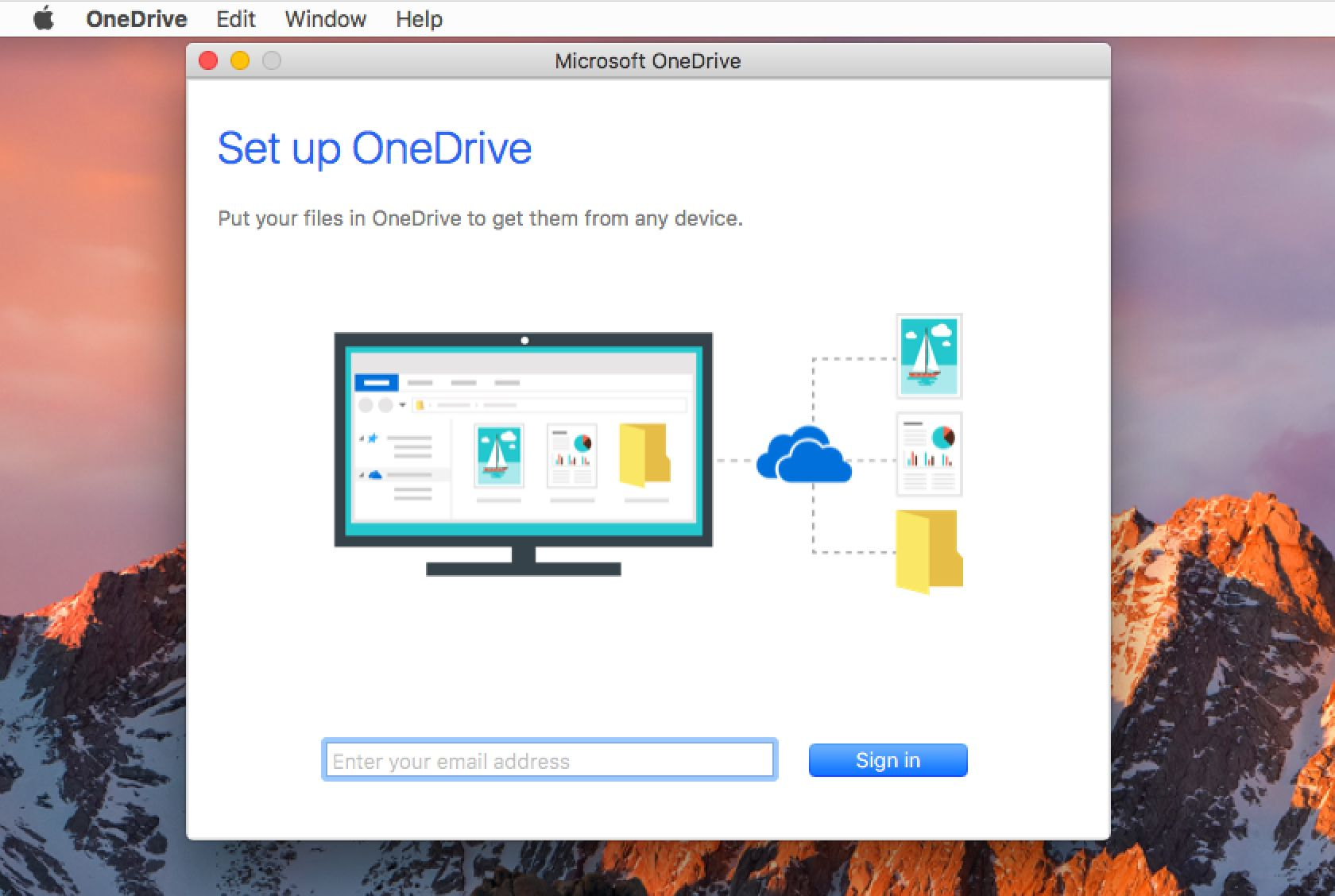 How to Set up Microsoft OneDrive for Mac