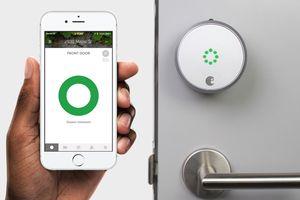 Smart Lock with iPhone App Showing Door Unlocked screenshot