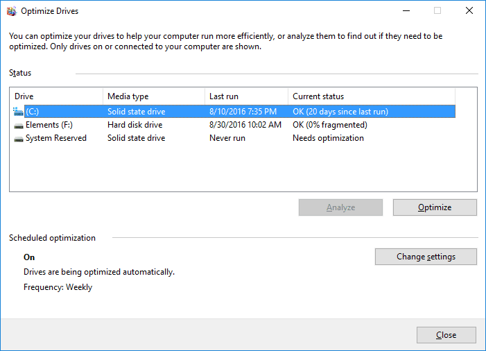 do i need to defrag windows 10