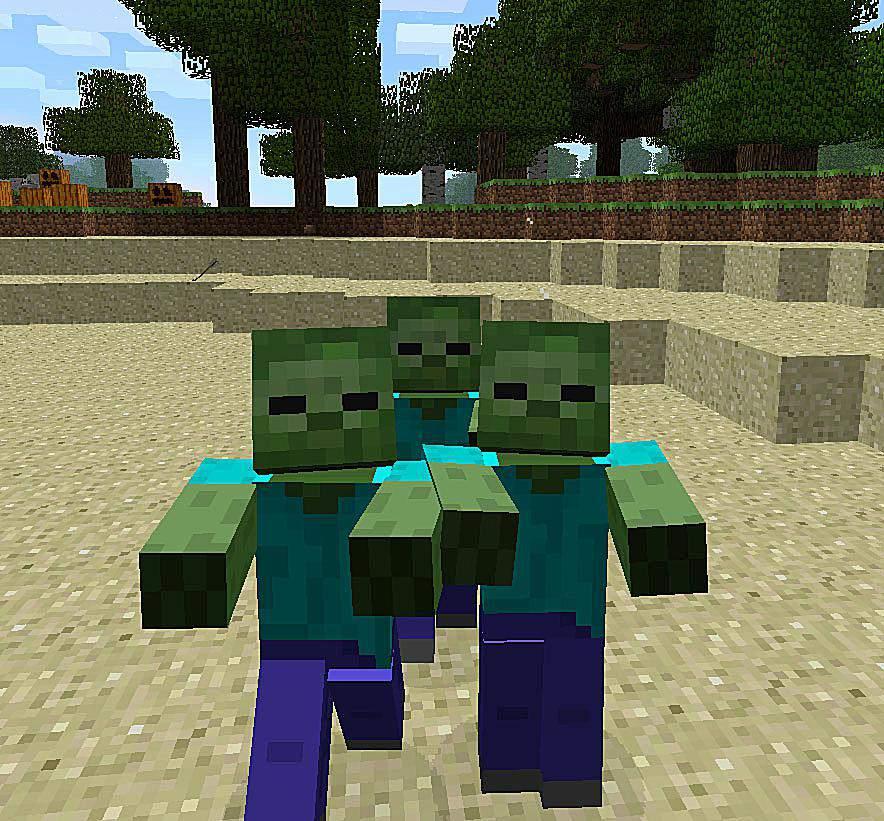 Zombie in Minecraft game