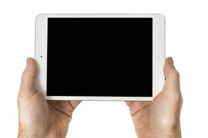 Image of the blackscreen of an iPad Mini