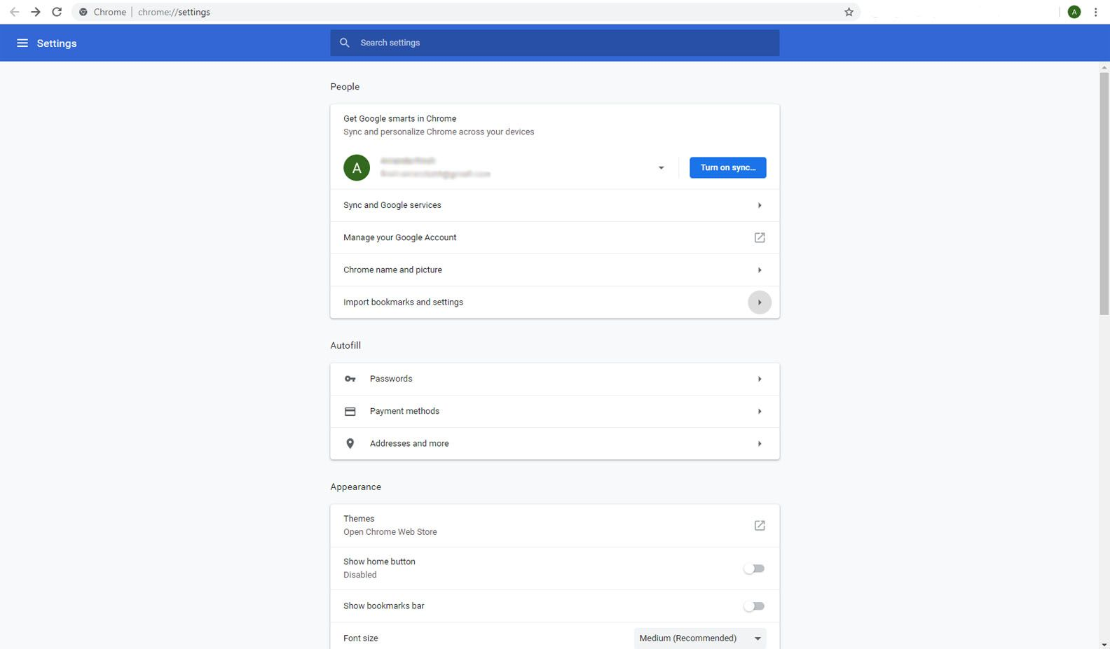 Import Bookmarks to Google Chrome